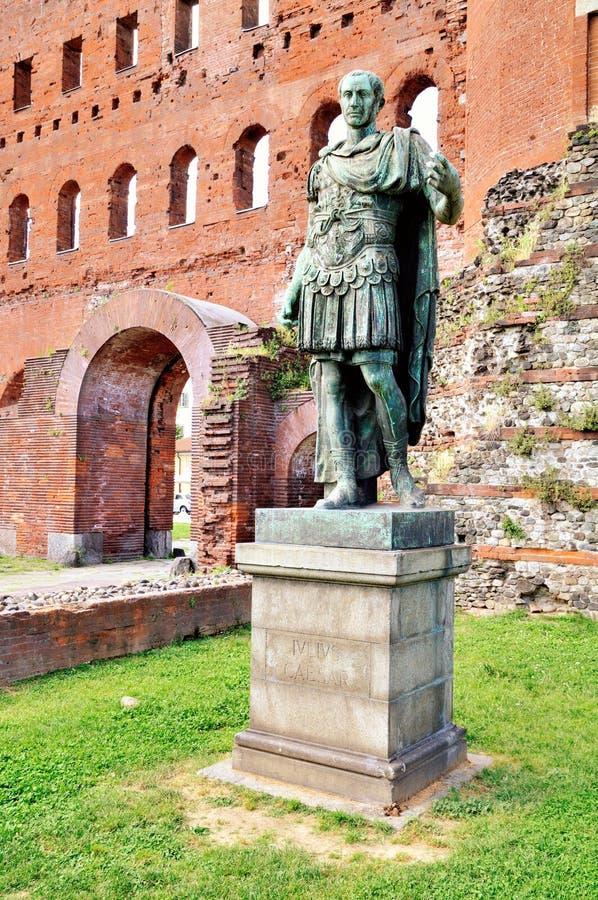 Statue d'iulius de César image stock