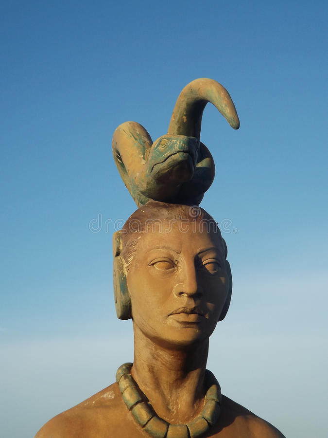Statue d'Ixchel, Isla Mujeres, Mexique images stock
