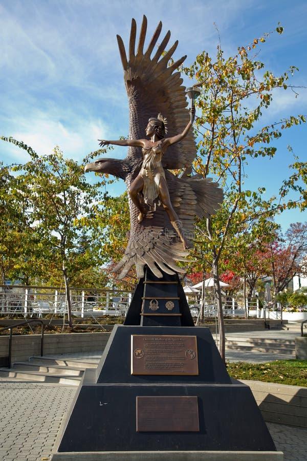 Statue d'Oakland image libre de droits