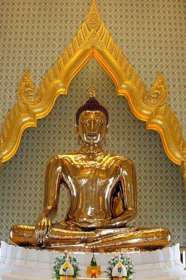 Statue d'or pur Bouddha, Thaïlande photographie stock