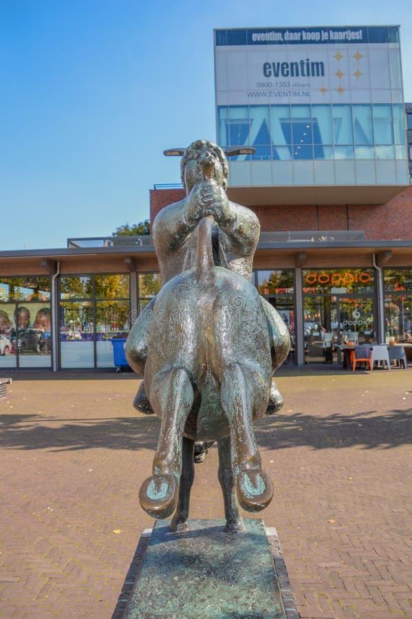 Statue d'un Dik Trom chez Hoofddorp les Pays-Bas photographie stock libre de droits