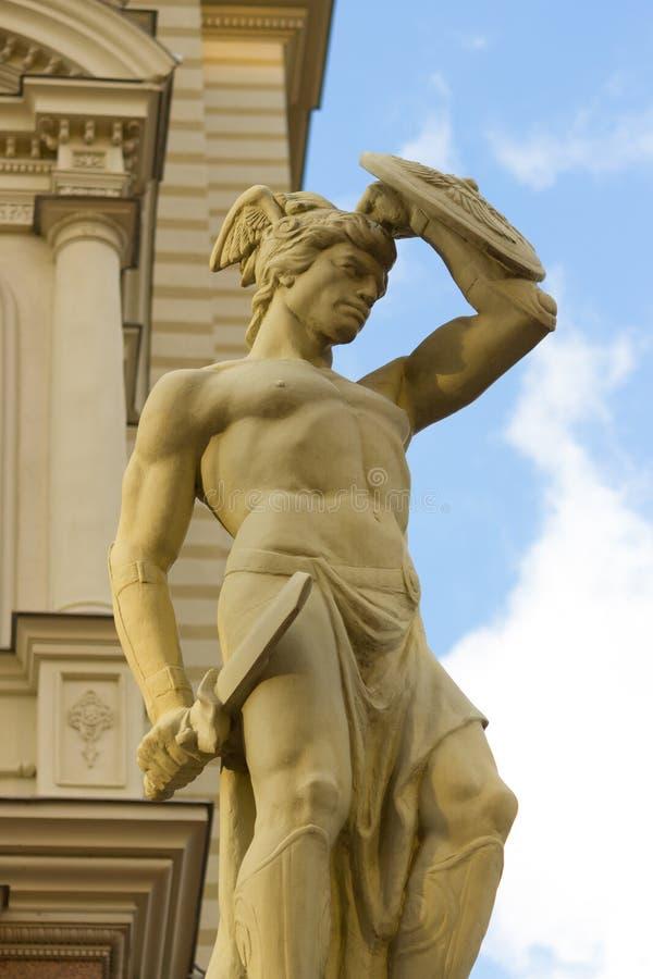 Statue d'un guerrier romain photo libre de droits