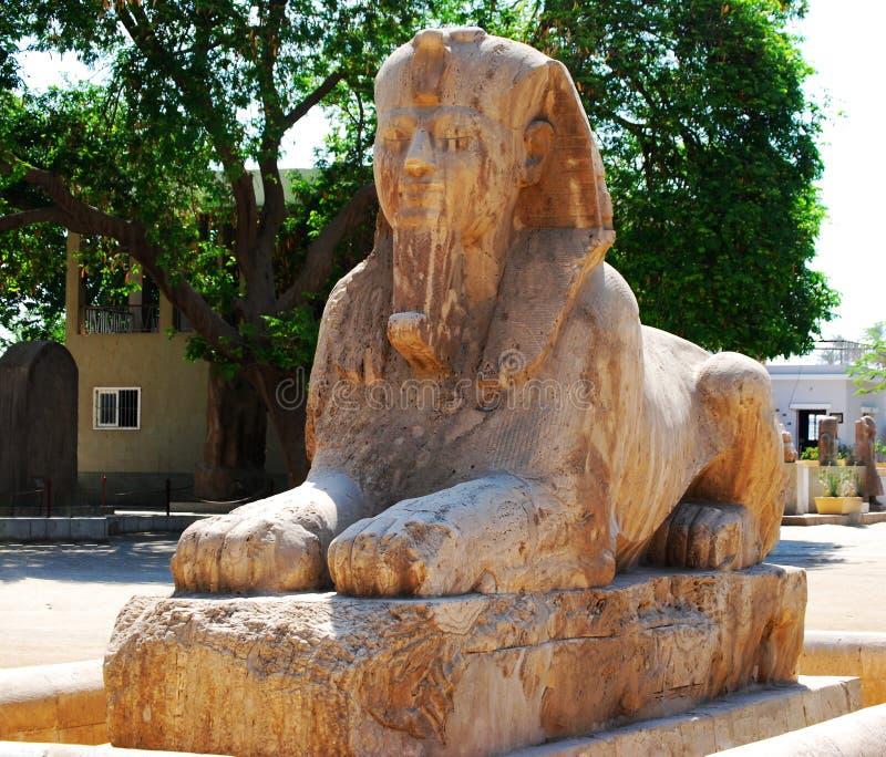 Statue d'un sphinx d'albâtre, Egypte photos stock