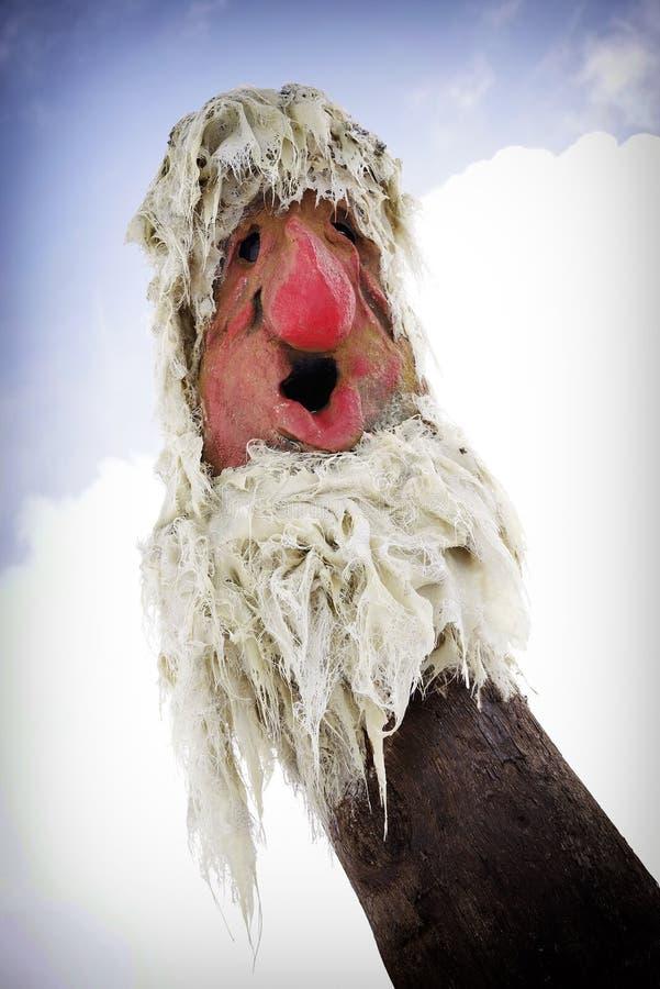 Statue d'un troll norv?gien traditionnel en Norv?ge Fin vers le haut images stock