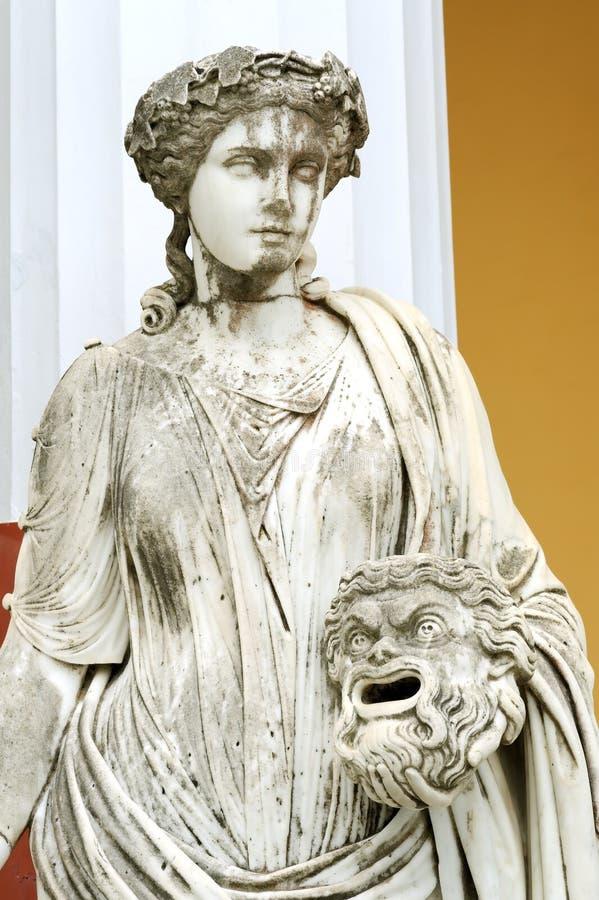 Statue d'une Muse Melpomene photos libres de droits