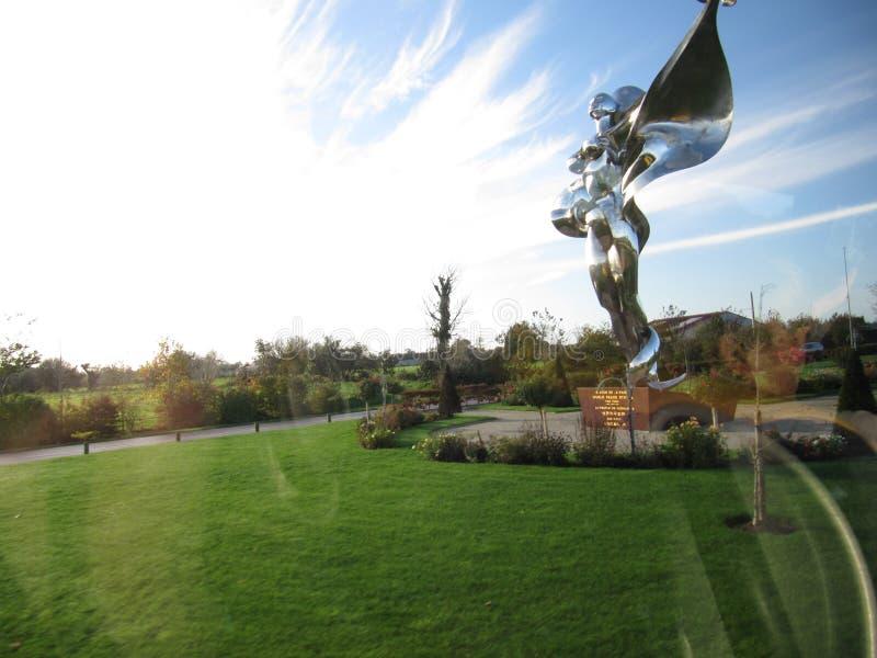 Statue dans des Frances du Calvados image libre de droits