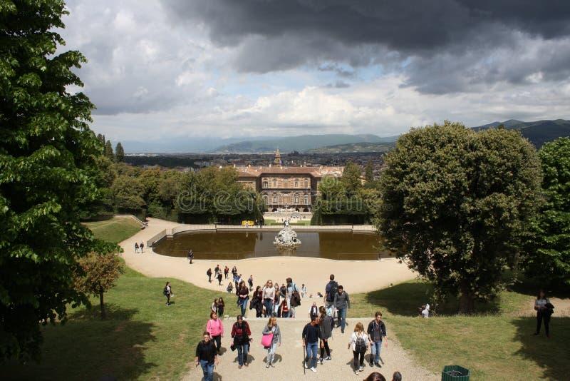 Statue dans des jardins de Boboli - Florence, Toscane, Italie photos libres de droits