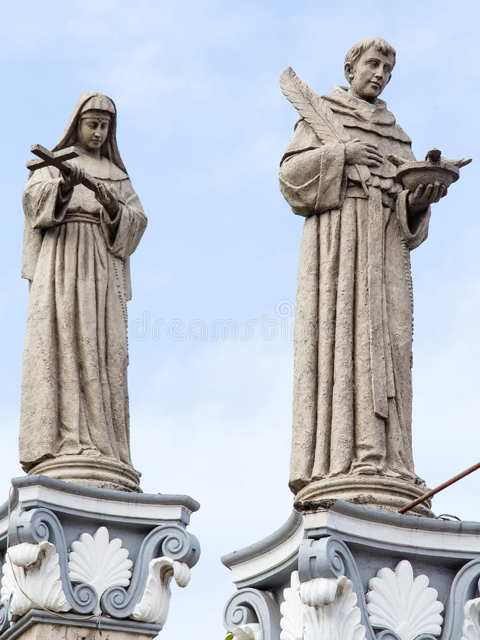 Statue dans le del Santo Nino de basilique Cebu, Philippines image stock