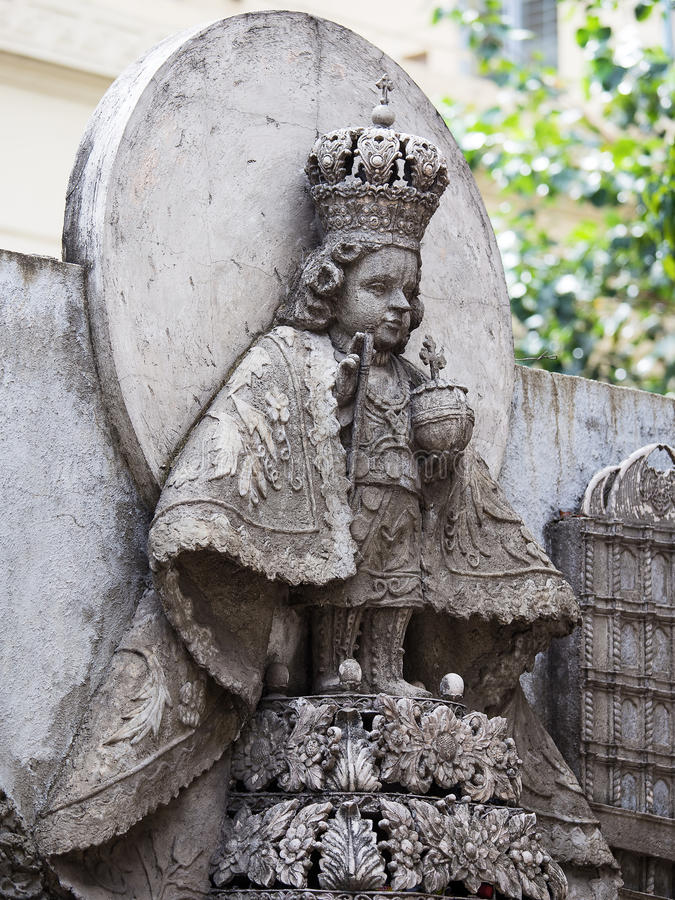 Statue dans le del Santo Nino de basilique Cebu, Philippines photos stock