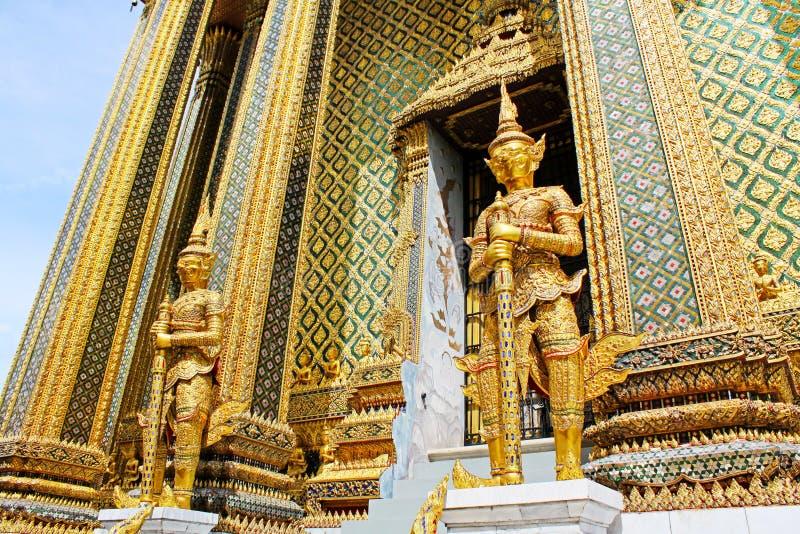 Statue dans le palais grand, Bangkok, Thaïlande images stock