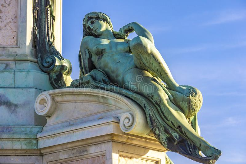 Statue of David by Michelangelo at Piazza Michelangelo in Florence, Italy. Detail of statue of David by Michelangelo at Piazza Michelangelo in Florence, Italy stock photos