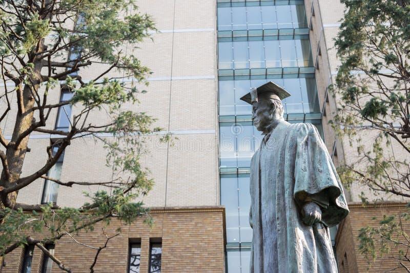 Statue de ÅŒkuma Shighenobu photo libre de droits