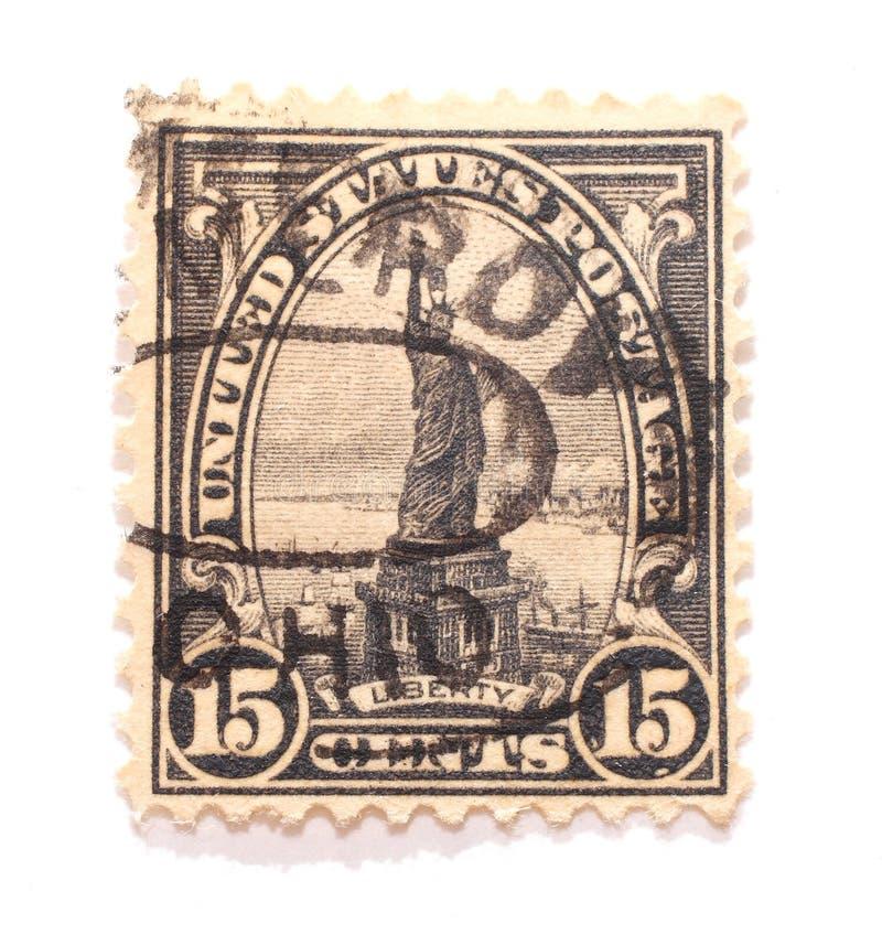 statue de 15 cents d'estampille de liberté photographie stock libre de droits