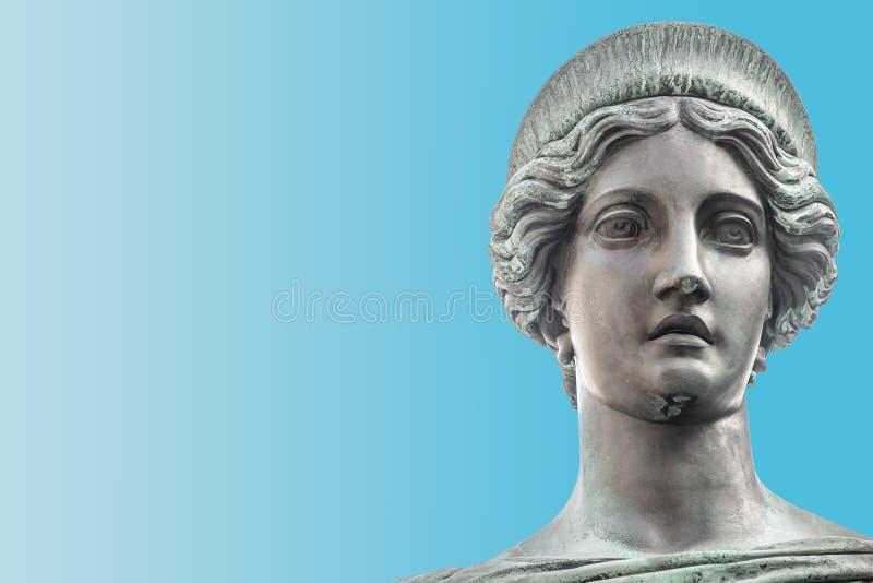 Statue de beau juge au monument de Franz I d'empereur dans Hof images libres de droits