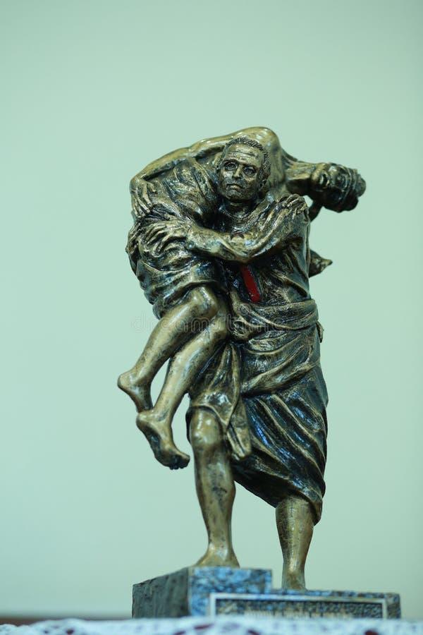 Statue de bon Samaritain images stock