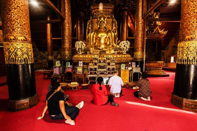 Statue de Bouddha au temple de Wat Phumin Nan Province Thailand photo stock