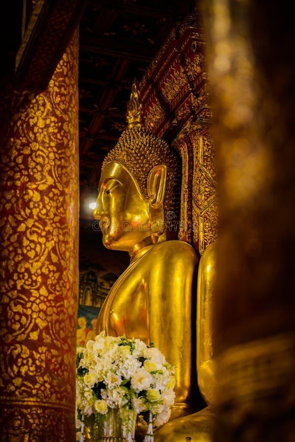 Statue de Bouddha au temple de Wat Phumin Nan Province Thailand image stock