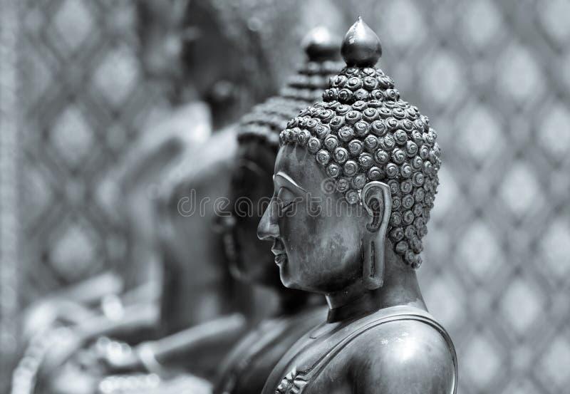 Statue de Bouddha dans le monochrome photo stock