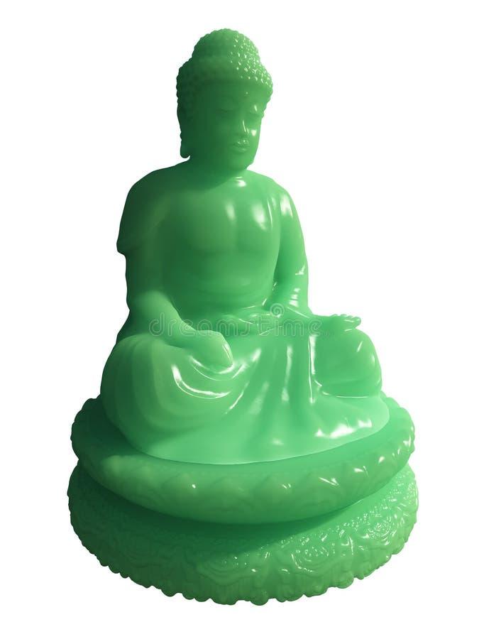 Statue de Bouddha de jade illustration stock