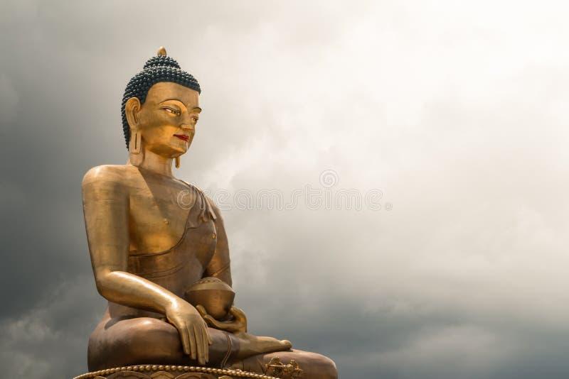 Statue de Bouddha Dordenma, géant Bouddha, Thimphou, Bhutan photographie stock libre de droits