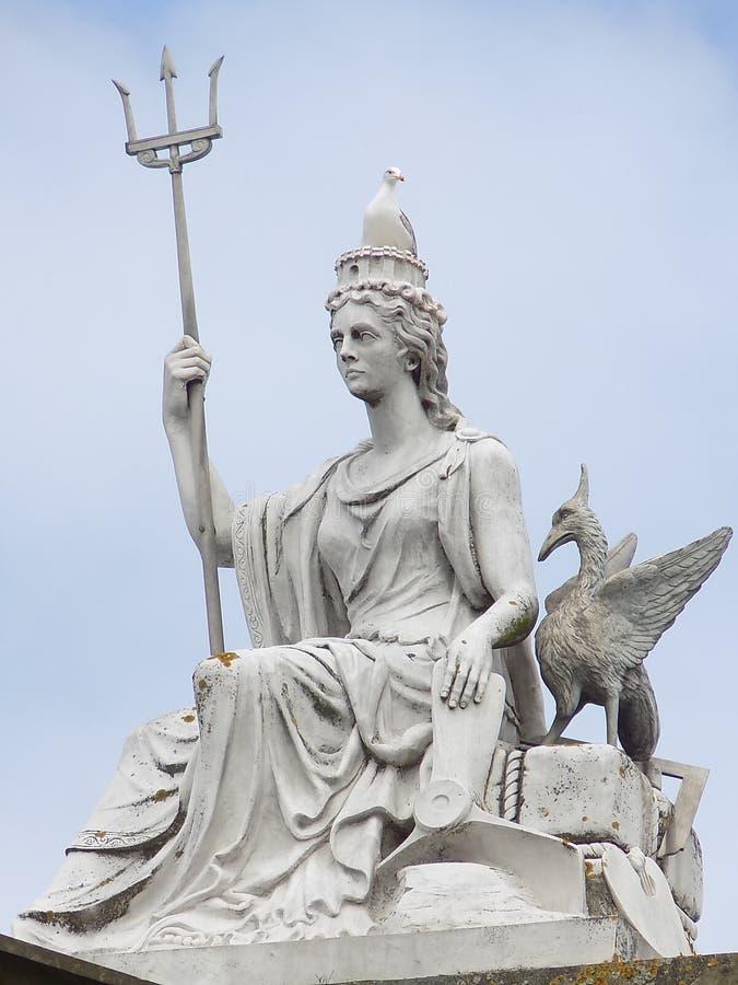 Statue de Britannia de règle photographie stock libre de droits