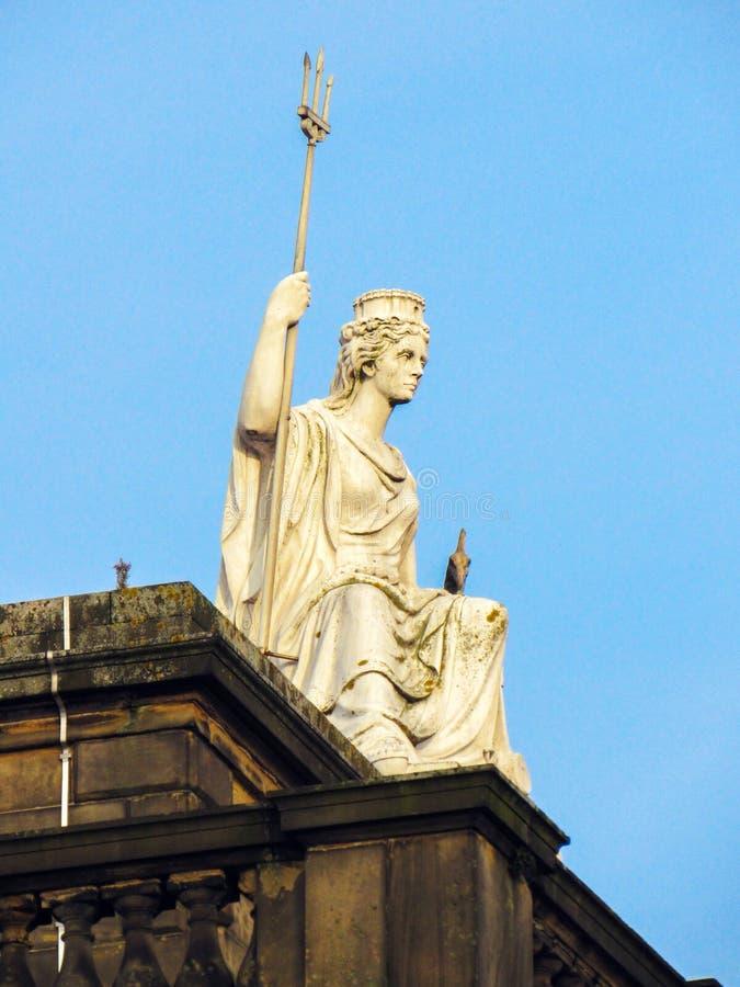 Statue de Britannia photo libre de droits