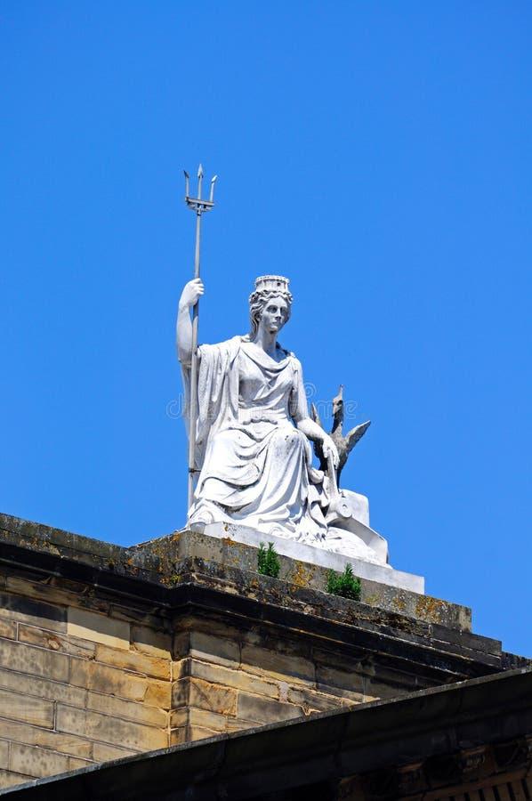 Statue de Britannia, Liverpool image stock