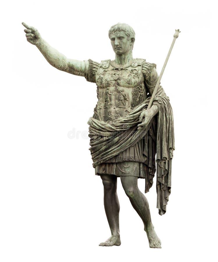 Statue de César à Rome images libres de droits