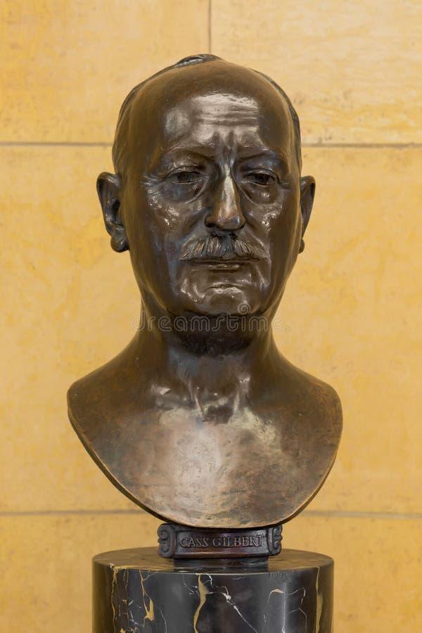 Statue de Cass Gilbert photographie stock libre de droits