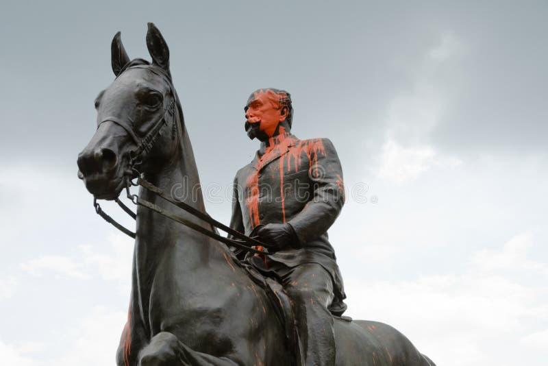 Statue de Castleman à Louisville, Kentucky images stock