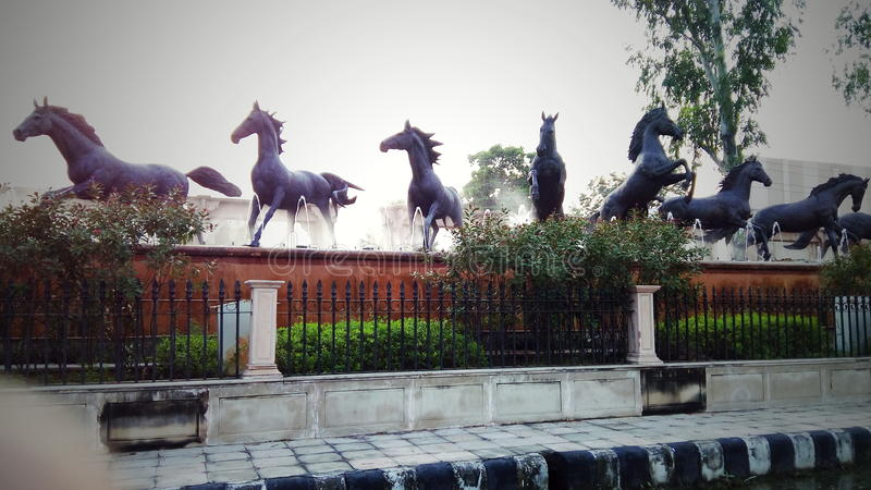 Statue de cheval photographie stock