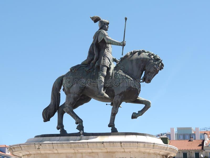 Statue de cheval de Dom Joao à Lisbonne au Portugal photo stock