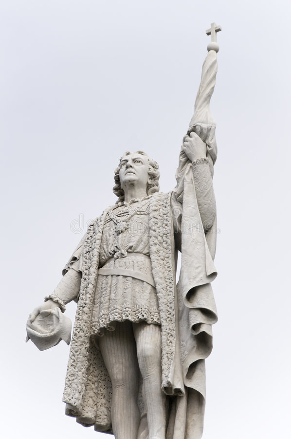 Statue de Christopher Columbus images libres de droits