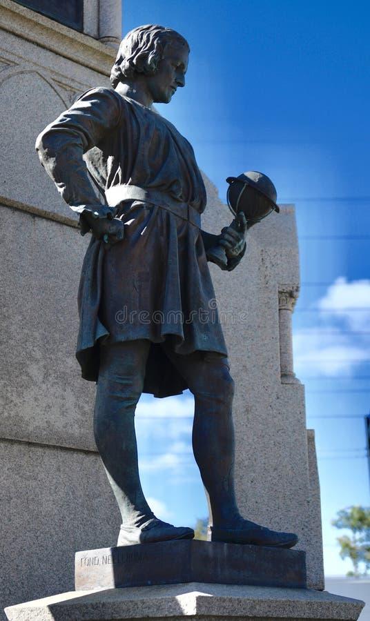 Statue de Christopher ColumbusThe Drake Fountain photographie stock
