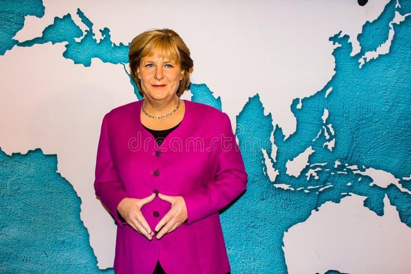 Statue de cire d'Angela Merkel, Museum de Madame Tussaud's, Amsterdam photographie stock