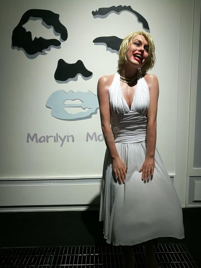 Statue de cire de Marilyn Monroe image stock
