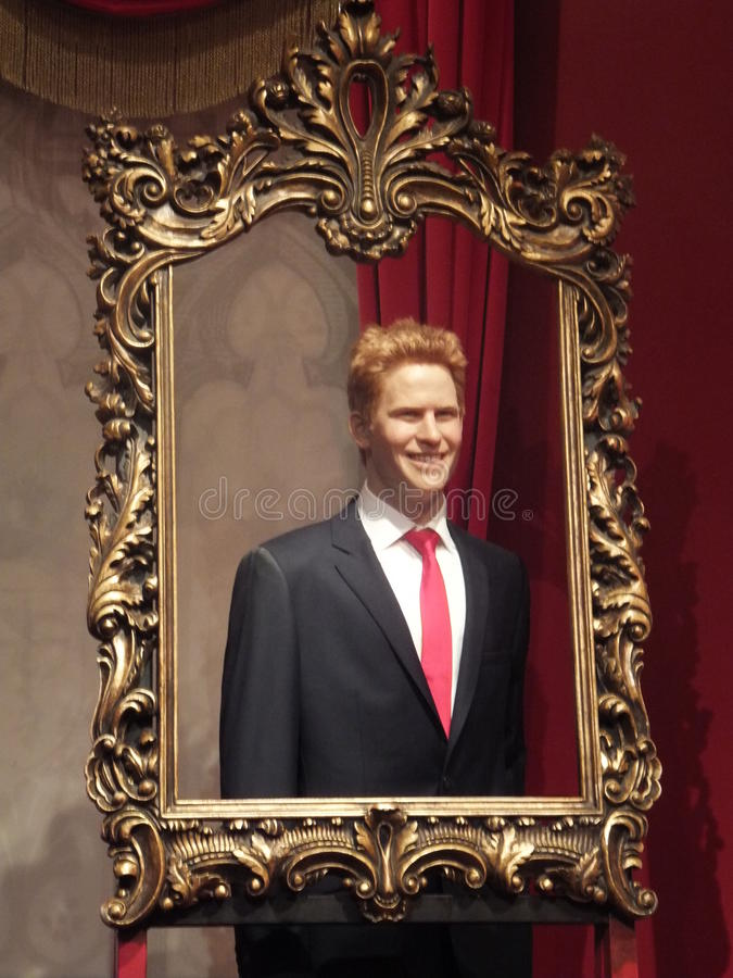 Statue de cire de prince Harry photographie stock
