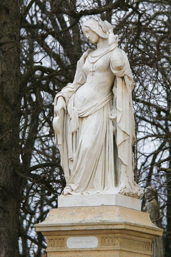 Statue de Clemence Isaure dans le Jardin du Luxembourg, Paris, France photo stock