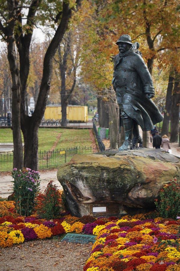 Statue de clemenceau image libre de droits