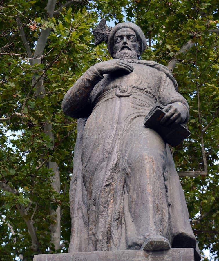 Statue de Constantin Brancoveanu, Bucarest, Roumanie image stock