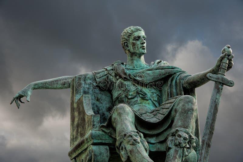 Statue de Constantine photographie stock libre de droits