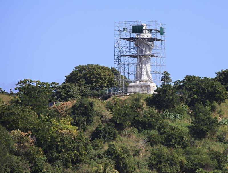 Statue de Cristo de La Habana sur la restitution. images libres de droits
