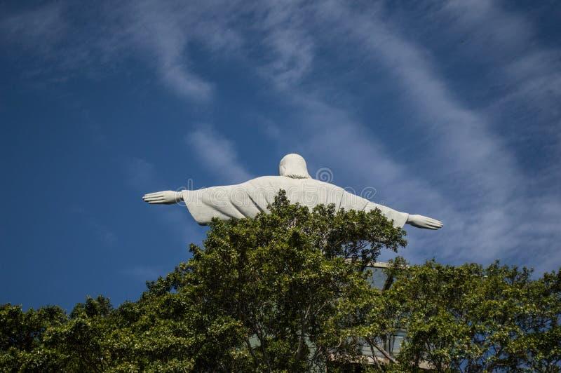 Statue de Cristo par derrière photo stock