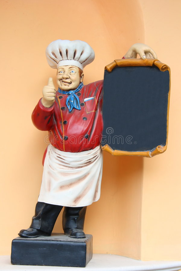 Statue de cuisinier image libre de droits image 7609626 for Cuisinier chapeau noir