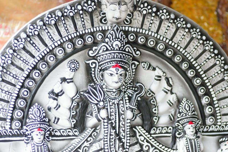 Statue de déesse indoue Durga aux festivals de Durga Puja photographie stock