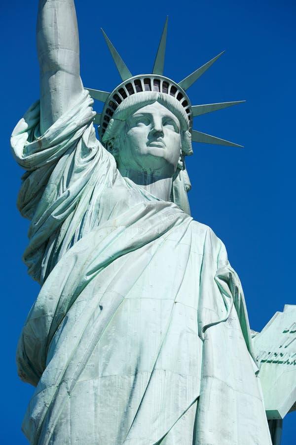 Statue de détail de liberté dans un jour ensoleillé à New York photos stock