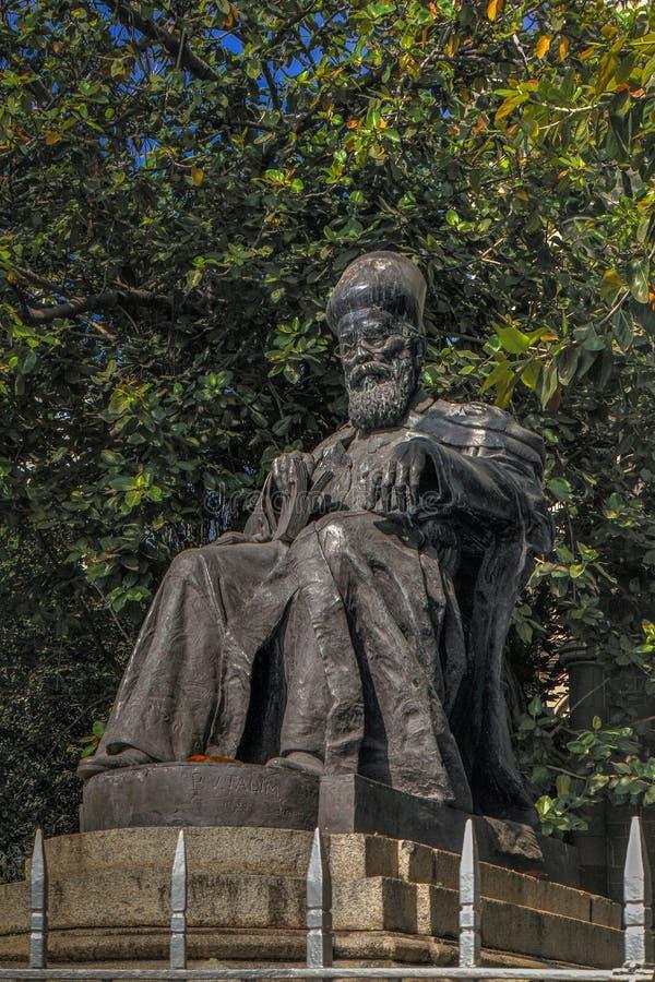 Statue de Dadabhai Naoroji, près de Flora Fountain, maharashtra de Mumbai image libre de droits