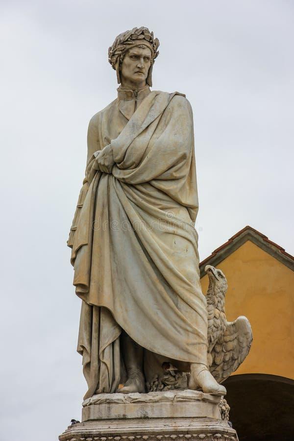 Statue de Dante photographie stock libre de droits