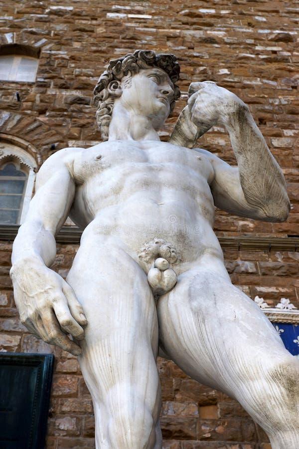 Statue de David à Florence, Italie photos libres de droits