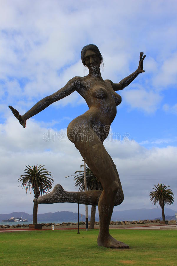 "statue de  de Dance†d'""Bliss à San Francisco photographie stock libre de droits"
